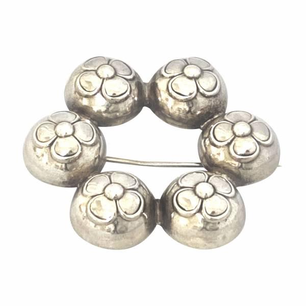 Vintage Danish silver brooch Greystones