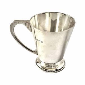 Silver christening mug Greystones Antiques