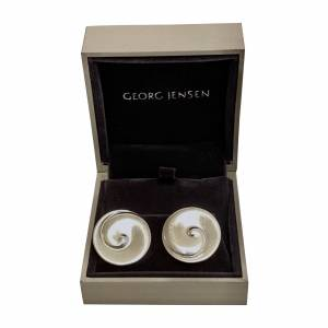 Georg Jensen silver clip-on earrings