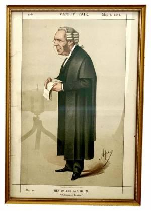 Framed original Vanity Fair Spy print Greystones Antiques