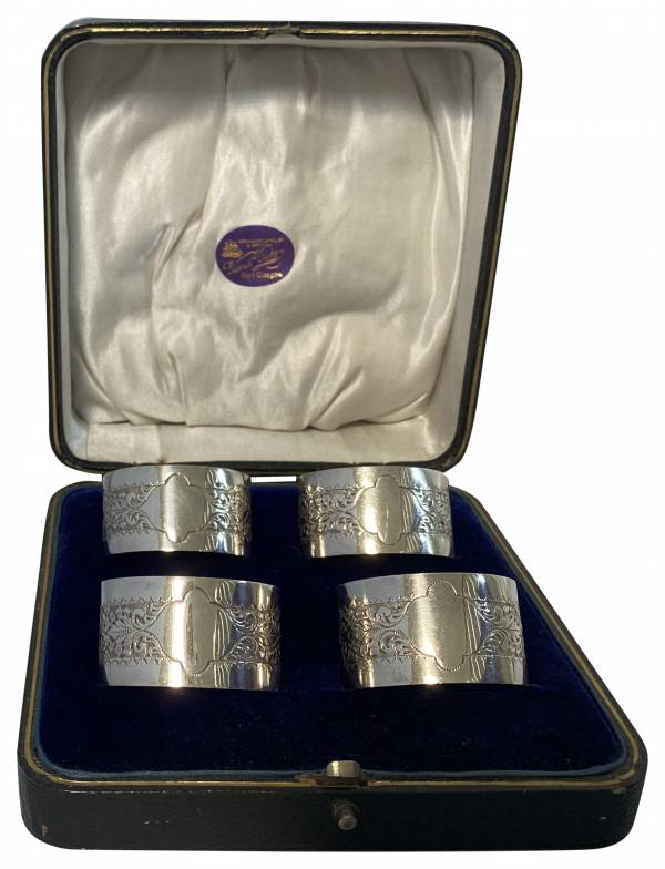 Antiques,napkin rings,, jewellery, silver, gifts, Greystones Antiques