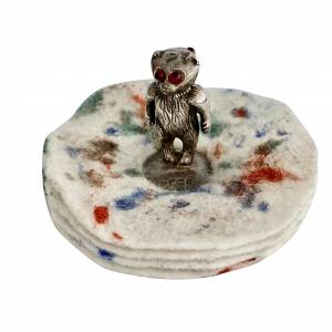 Silver bear pen wipe, Antique silver, jewellery, collectables & more. Greystones Antiques, Co. Wicklow, Ireland. 20km south of Dublin.