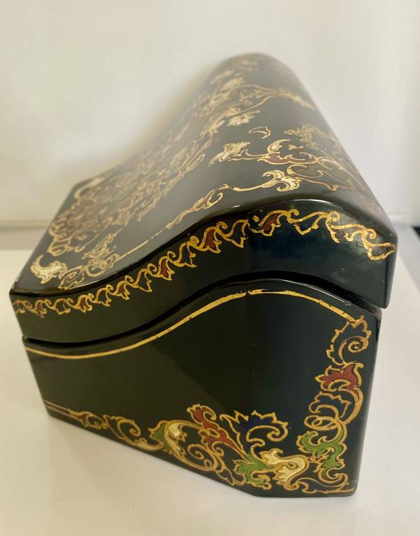 Victorian Desk tidy/stationery box, Antique silver, jewellery, collectables & more. Greystones Antiques, Co. Wicklow, Ireland. 20km south of Dublin.