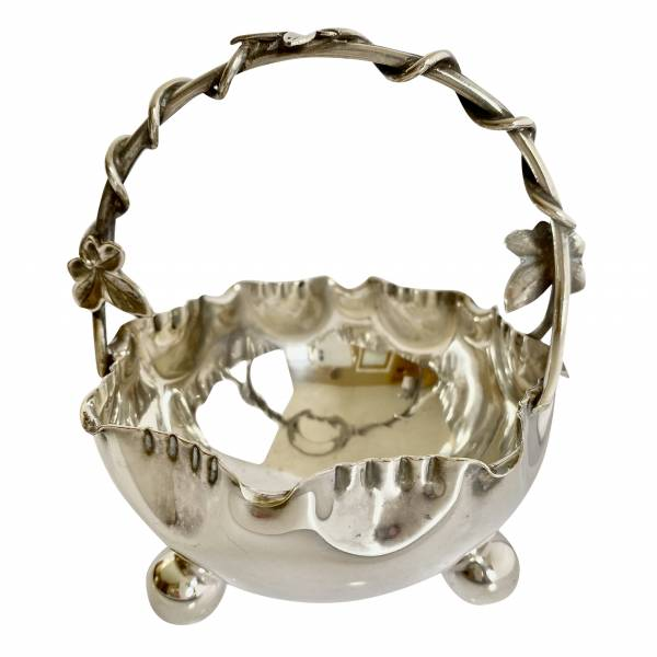 Silver plated bowl, Antique silver, jewellery, collectables & more. Greystones Antiques, Co. Wicklow, Ireland. 20km south of Dublin.