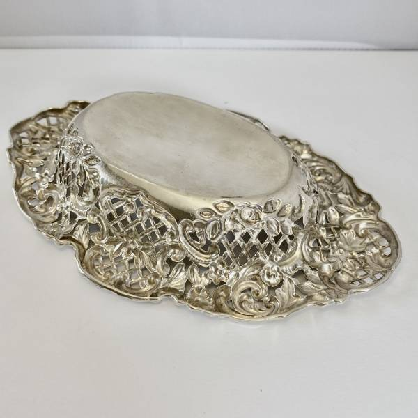 Silver bon bon dish, Antique silver, jewellery, collectables & more. Greystones Antiques, Co. Wicklow, Ireland. 20km south of Dublin.