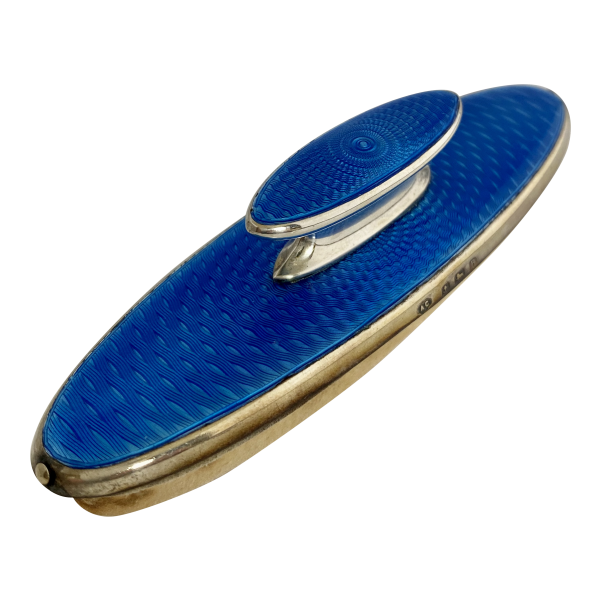 Silver & enamel nail buffer, Antique silver, jewellery, collectables & more. Greystones Antiques, Co. Wicklow, Ireland. 20km south of Dublin.