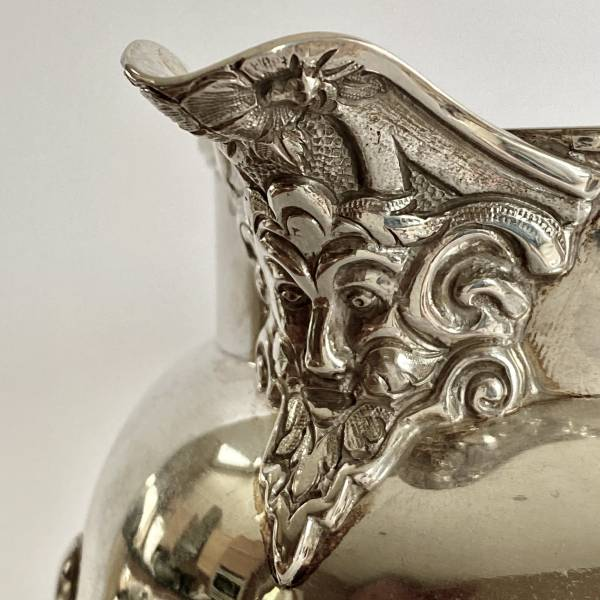 Silver water jug, Antique silver, jewellery, collectables & more. Greystones Antiques, Co. Wicklow, Ireland. 20km south of Dublin.