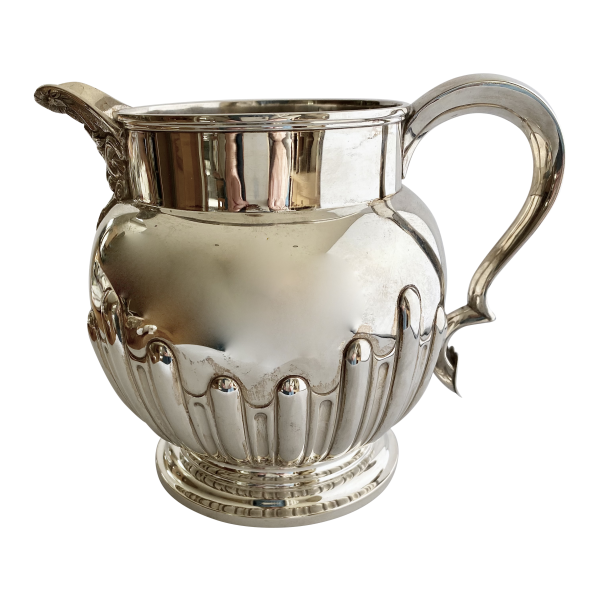 Large silver water jug, Antique silver, jewellery, collectables & more. Greystones Antiques, Co. Wicklow, Ireland. 20km south of Dublin.