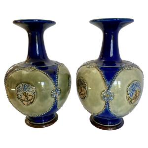 Antique Royal Doulton vases, Antique silver, jewellery, collectables & more. Greystones Antiques, Co. Wicklow, Ireland. 20km south of Dublin.