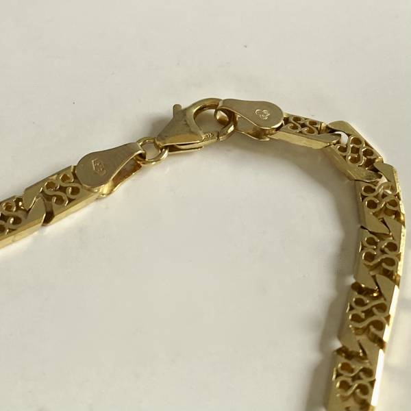 9ct gold chain, Antique silver, jewellery, collectables & more. Greystones Antiques, Co. Wicklow, Ireland. 20km south of Dublin.