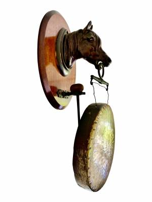 Large Victorian Wall gong, Antique silver, jewellery, collectables & more. Greystones Antiques, Co. Wicklow, Ireland. 20km south of Dublin.