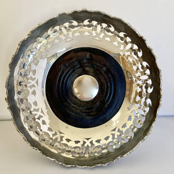 Silver plated wine coaster, Antique silver, jewellery, collectables & more. Greystones Antiques, Co. Wicklow, Ireland. 20km south of Dublin.